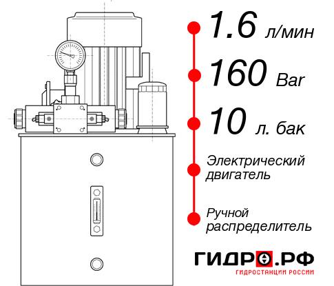 Маслостанция с электроприводом НЭР-1,6И161Т