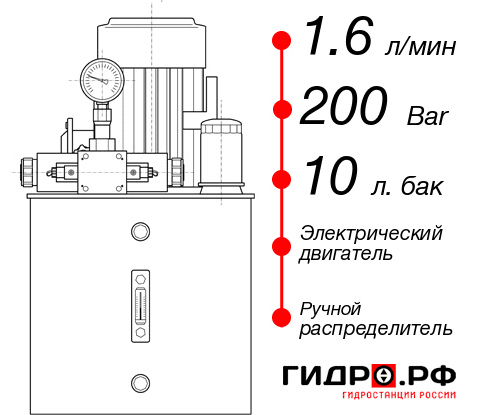 Маслостанция с электроприводом НЭР-1,6И201Т