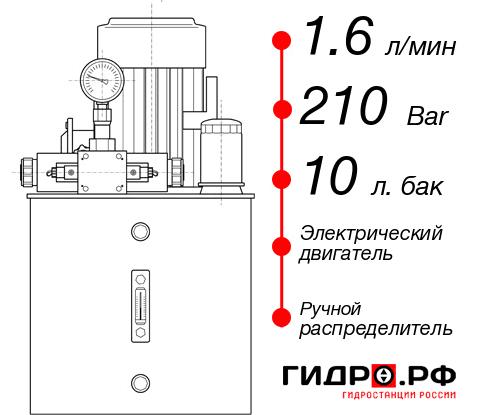 Маслостанция с электроприводом НЭР-1,6И211Т